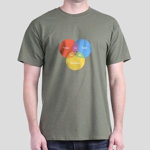 Guitar Pick Venn Dark T-Shirt