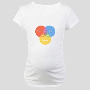 Guitar Pick Venn Maternity T-Shirt