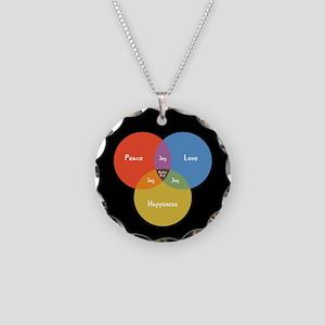 Guitar Pick Venn Necklace Circle Charm