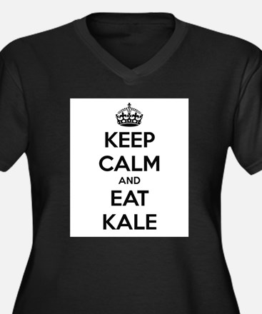 KEEP CALM AND EAT KALE Plus Size T-Shirt