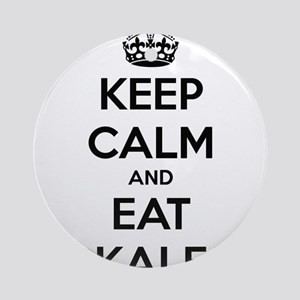 KEEP CALM AND EAT KALE Round Ornament