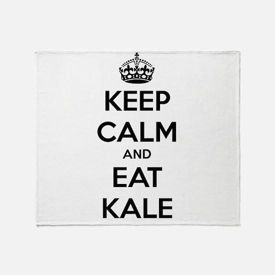 KEEP CALM AND EAT KALE Throw Blanket