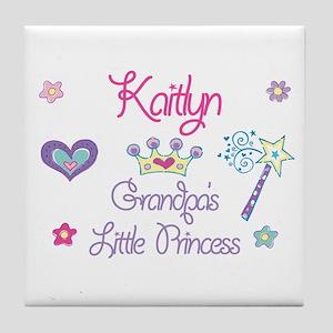 Kaitlyn - Grandpa's Little Pr Tile Coaster