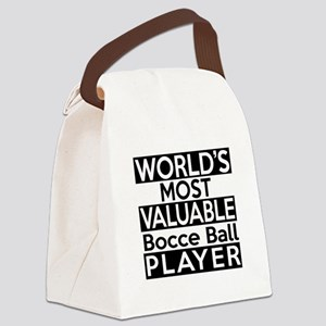 Most Valuable Bocce Ball Player Canvas Lunch Bag