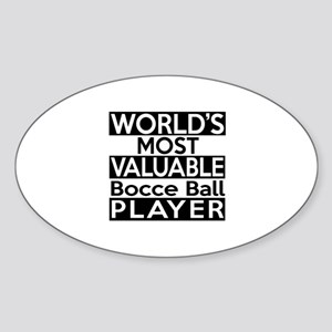 Most Valuable Bocce Ball Player Sticker (Oval)