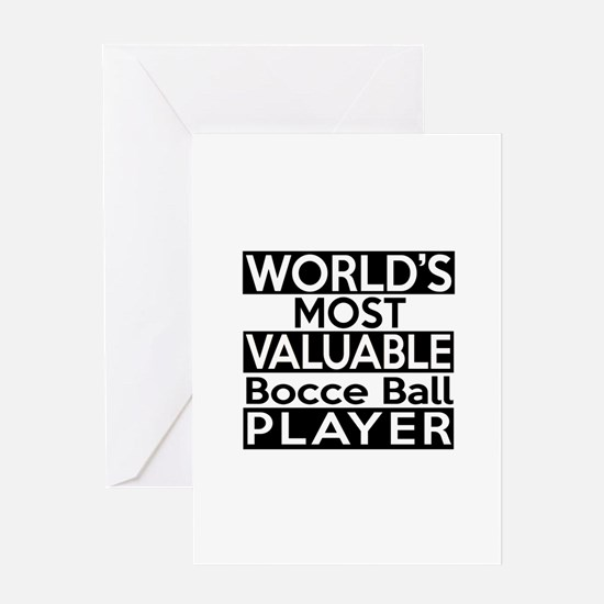 Most Valuable Bocce Ball Player Greeting Card