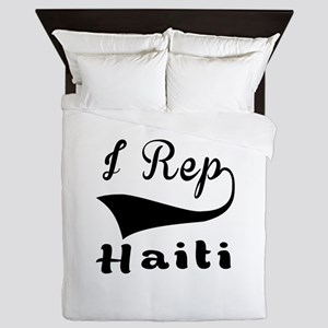 I Rep Haiti Queen Duvet