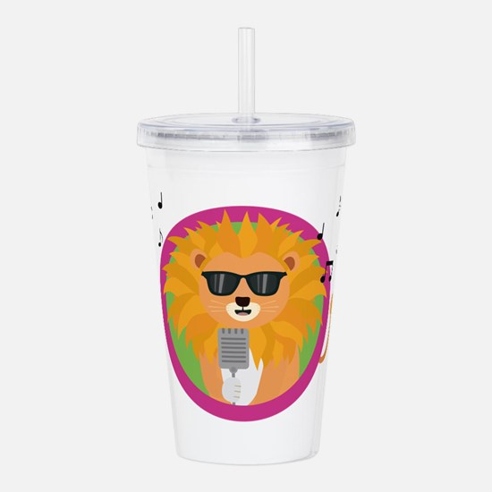 Singing music lion Acrylic Double-wall Tumbler