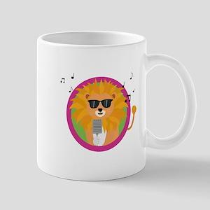 Singing music lion Mugs