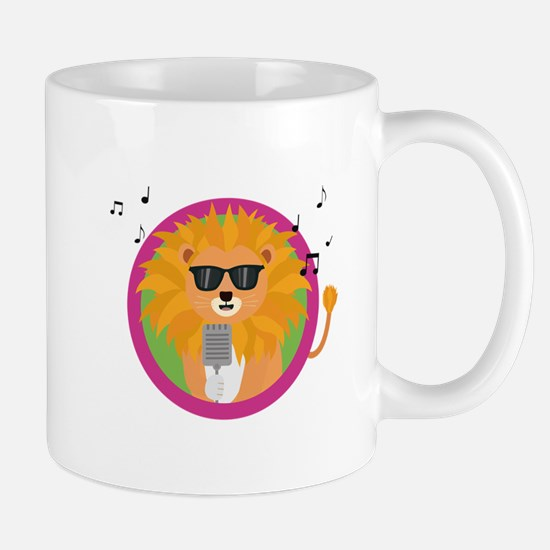 Singing music lion Mugs