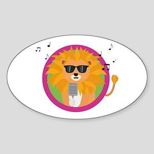 Singing music lion Sticker