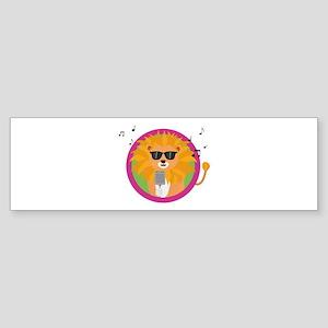 Singing music lion Bumper Sticker