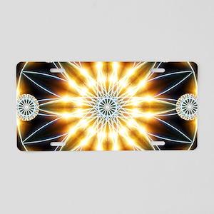 Golden Star Mandala Aluminum License Plate