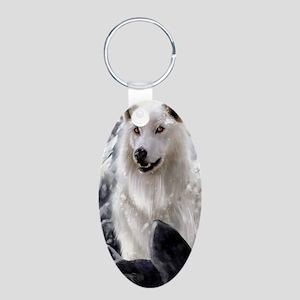 White Direwolf Keychains