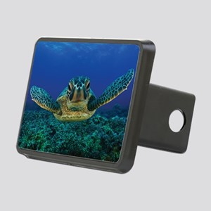 Turtle Swimming Rectangular Hitch Cover