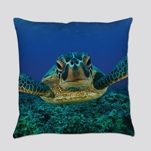 Turtle Swimming Everyday Pillow
