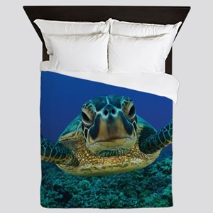Turtle Swimming Queen Duvet