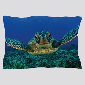 Turtle Swimming Pillow Case
