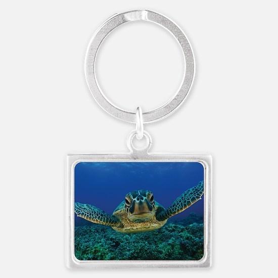 Turtle Swimming Keychains