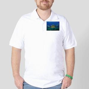 Turtle Swimming Golf Shirt