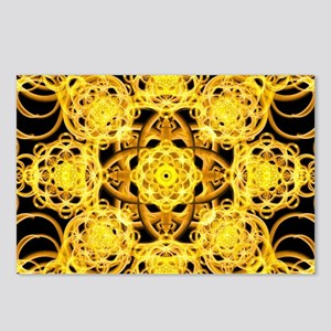 Golden Harmoney Mandala Postcards (Package of 8)