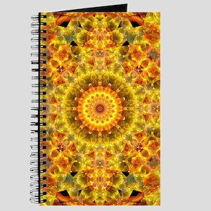 Golden Fire Mandala Journal