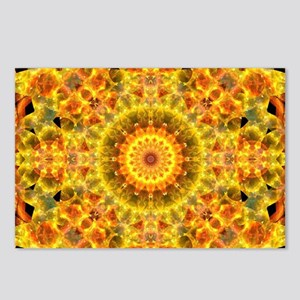 Golden Fire Mandala Postcards (Package of 8)