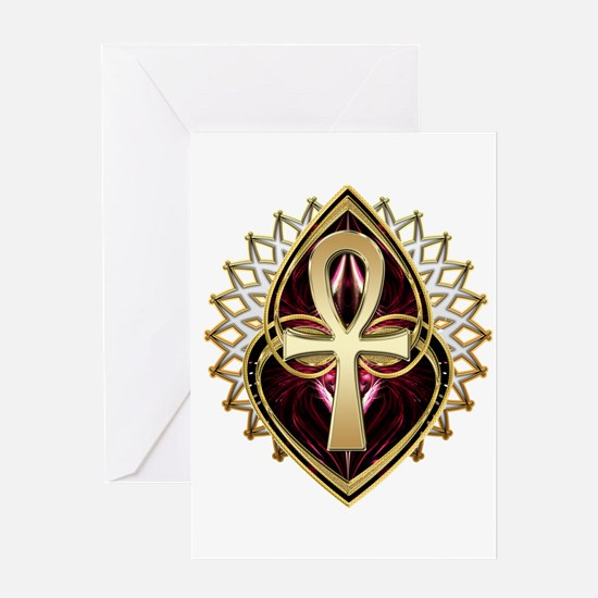 ANKH-LOVE1 Greeting Cards