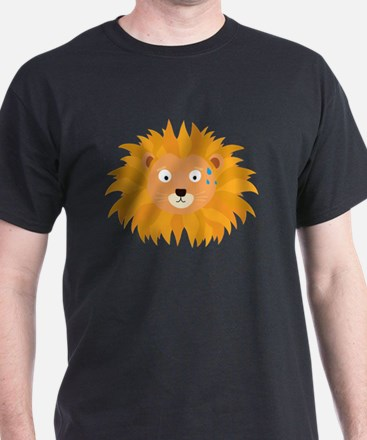 Sweating lion head T-Shirt