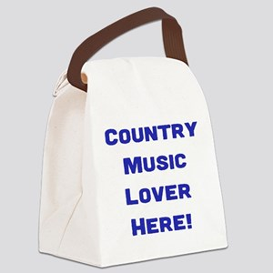 Country Music Lover Canvas Lunch Bag