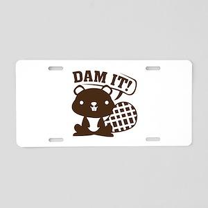 Dam It Aluminum License Plate