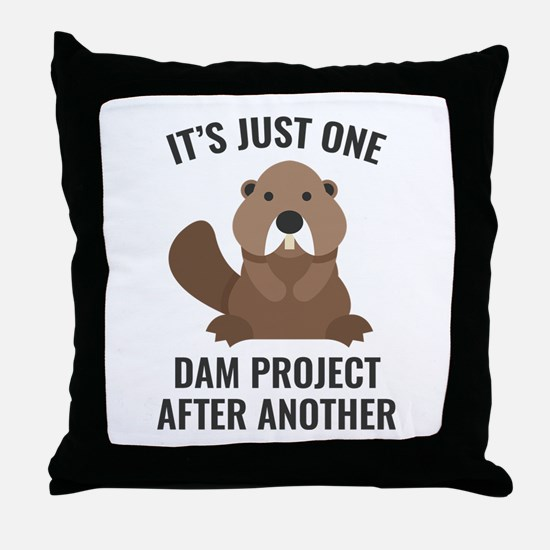 One Dam Project Throw Pillow