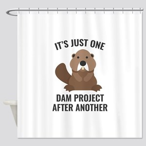 One Dam Project Shower Curtain