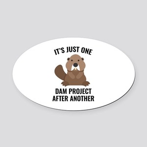 One Dam Project Oval Car Magnet