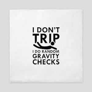 Gravity Checks Queen Duvet