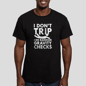 Gravity Checks Men's Fitted T-Shirt (dark)