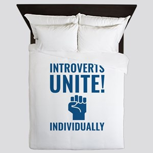 Introverts Unite Queen Duvet