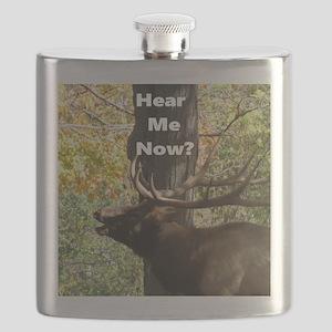 Elk Bellowing Flask