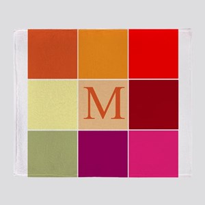 Monogrammed Blocks by LH Throw Blanket