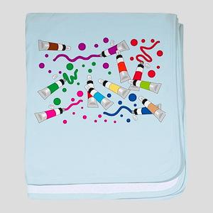 Rainbow Splatter of Paints baby blanket