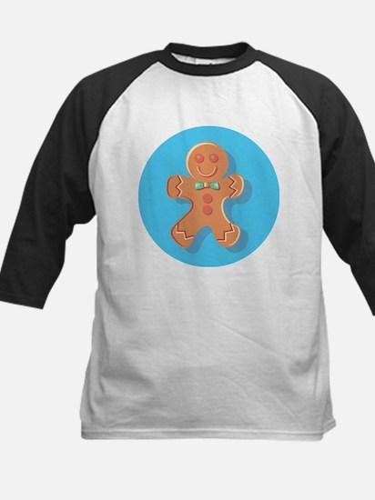 Blue Circle Gingerbread Man Baseball Jersey