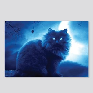 Black Cat In The Night Postcards (Package of 8)
