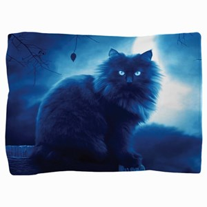 Black Cat In The Night Pillow Sham