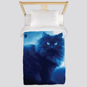 Black Cat In The Night Twin Duvet