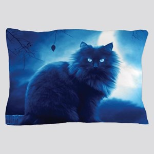 Black Cat In The Night Pillow Case