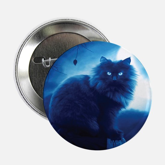 """Black Cat In The Night 2.25"""" Button (10 pack)"""