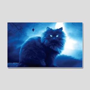 Black Cat In The Night Car Magnet 20 x 12