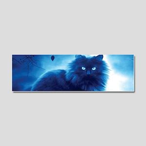 Black Cat In The Night Car Magnet 10 x 3