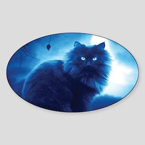 Black Cat In The Night Sticker