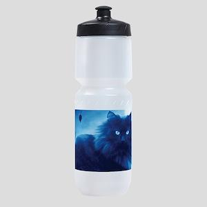 Black Cat In The Night Sports Bottle